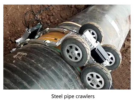 Steel pipe crawlers